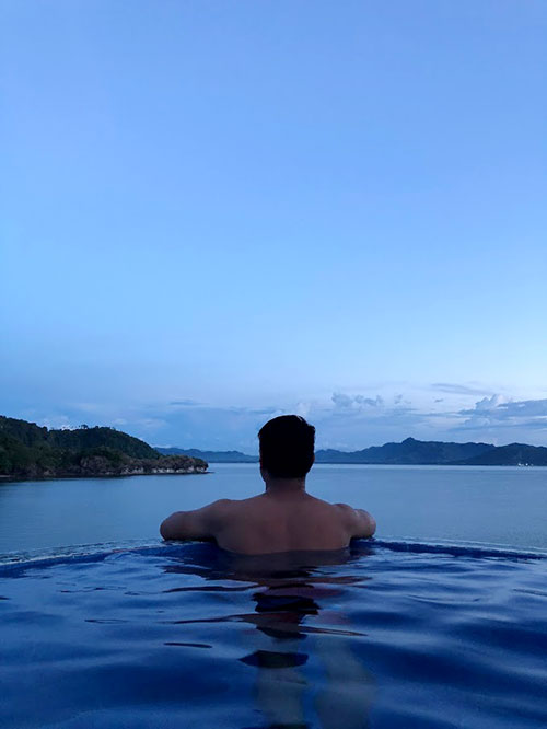 Taking a dip at Dakak Infinity Pool