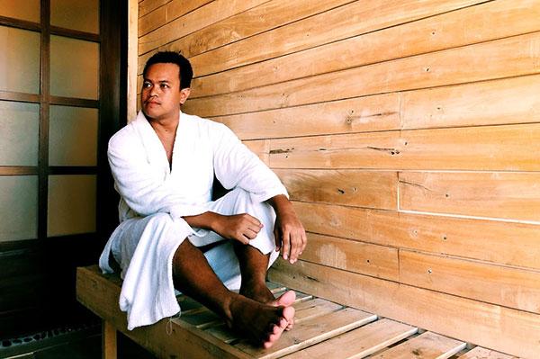 Sauna at The Spa Dakak