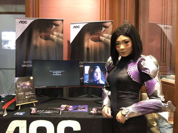 Alita cosplayer as she posed for the photo shoot during the AOC event in SM Seaside City Cebu