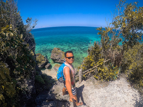 Ian Limpangog Selfie at Byaring, Kinatarcan Island