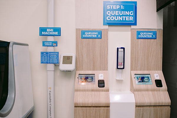 Automated queuing counter at Maxicare Health Hub