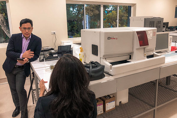 Primary Care Center's innovative analytical equipment