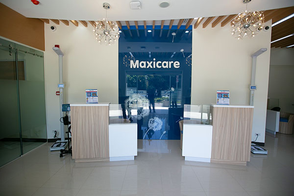 The reception of Maxicare Primary Care Center in Cebu Business Park