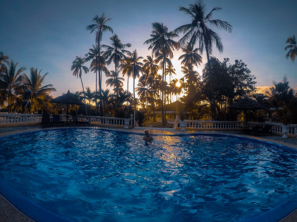 Whispering Palms Island Resort Pool. This saltwater pool is exclusive for overnight guests only.