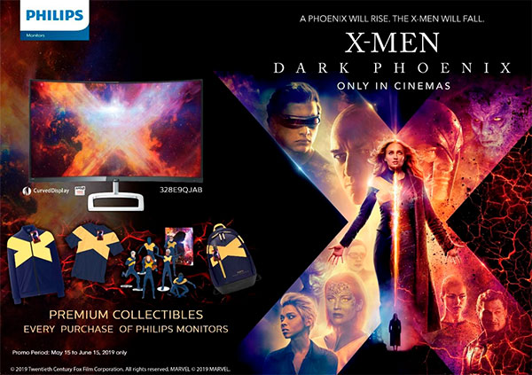 X-Men Dark Phoenix and Philips Monitor promotion