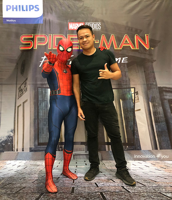 With Spidey 😁