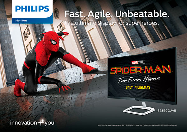 Promotional partnership of Sony Entertainment's Spider-Man and Philips Monitors