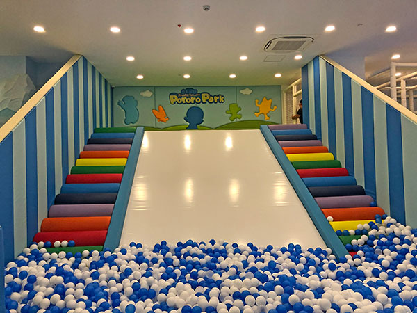 Sliding ball pool inside Pororo Park at Jpark