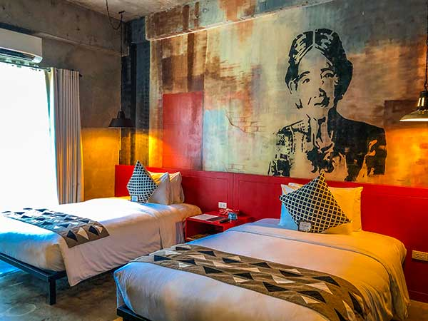 Big Nouveau Room with Apo Whang-od graffiti at The Henry Hotel Cebu