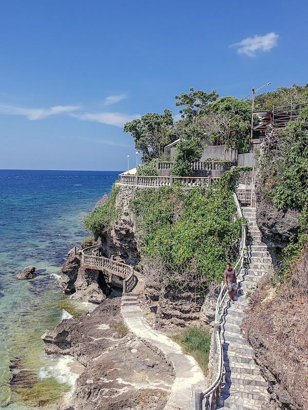 Stairway installation are available for guest to explore the cliffs of Antulang