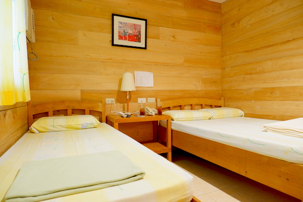 The cabana room is the resort's cheapest accommodation and it can comfortably house three individuals.