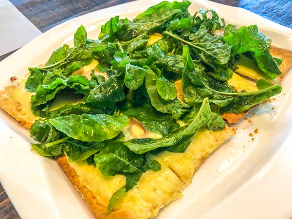 Spinach pesto pizza at Rica's Cafe at The Henry Hotel Cebu
