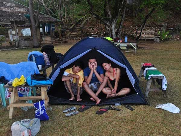 My first even beach camp was in Banan Island in Coron. It rained really hard at dawn and soaked most of our stuff with rain water.