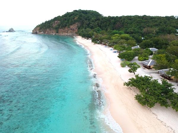 The beautiful beachfront of Dimakyat Island