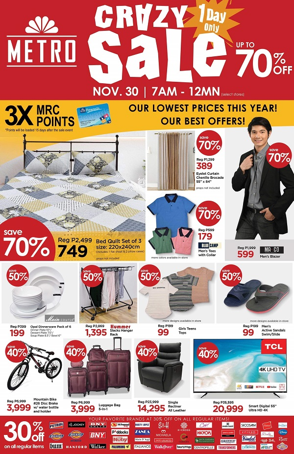 Metro Crazy Sale up to 70% OFF on Home Appliances
