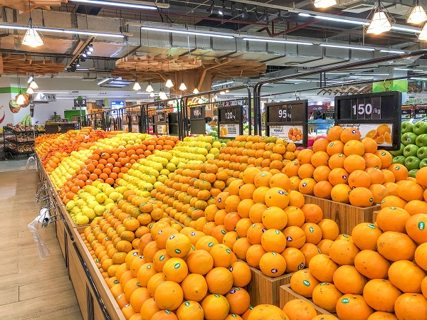 Fruit section of Metro Supermarket