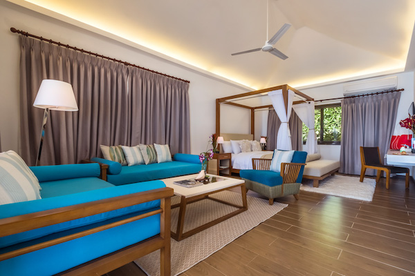 Premier-size Sunset Villa, one of the Club Paradise Palawan's biggest suites