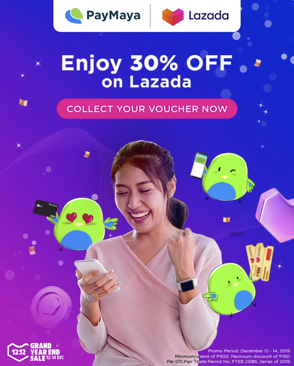 Enjoy 30% discount at Lazada when you pay using your PayMaya account