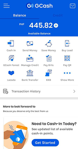 GCash mobile application