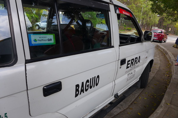 PayMaya scan-to-pay QR code are enabled in Baguio Taxis