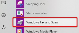 Windows Fax and Scan