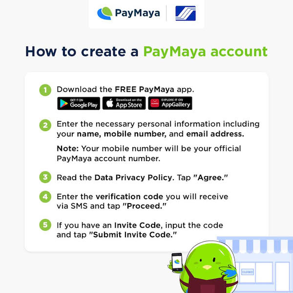 Creating a PayMaya account