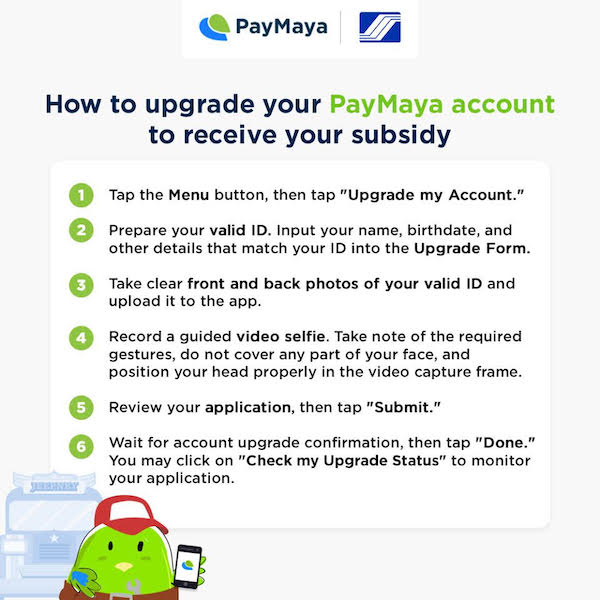 Upgrading your PayMaya account
