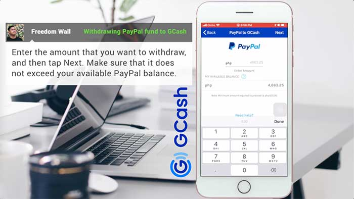 Withdraw PayPal to GCash