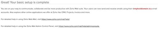 zoho mail complete setup