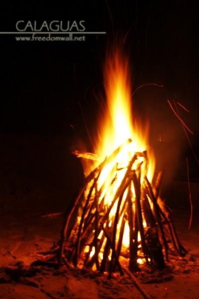 bon fire calaguas