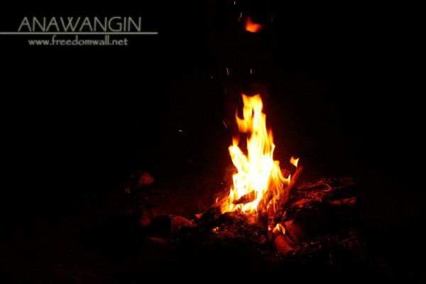 Anawangin Camp Fire