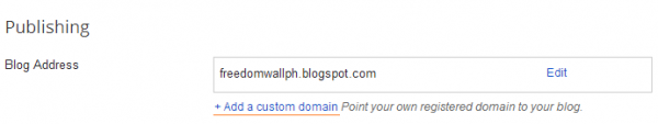 blogger add custom subdomain