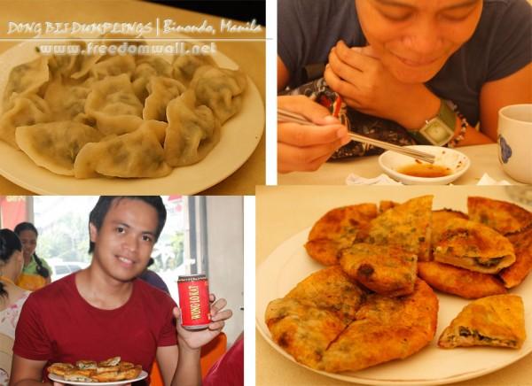 dong bei dumplings kuchay and fried pancake dumpling