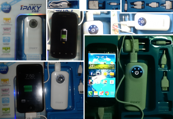 ipaky portable charger or power bank