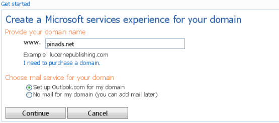 outlook custom domain