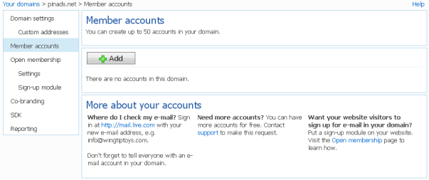 outlook custom domain creating accounts