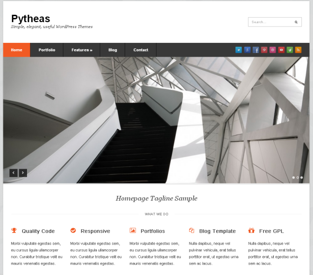 Pytheas WordPress Theme