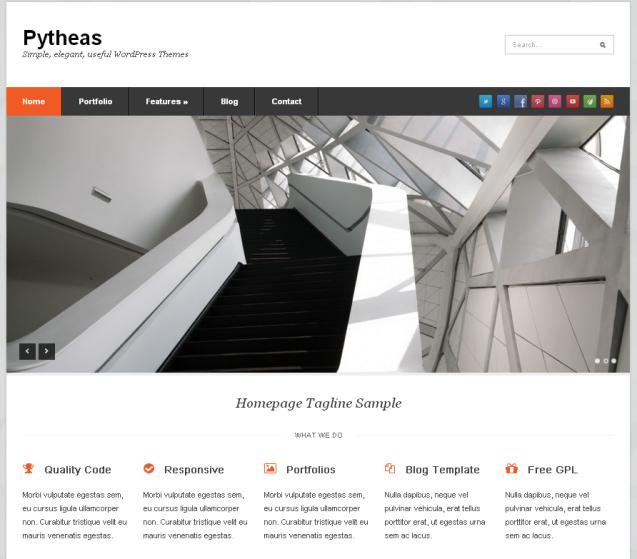 Pytheas WordPress Theme