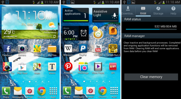 samsung galaxy s3 mini screenshots
