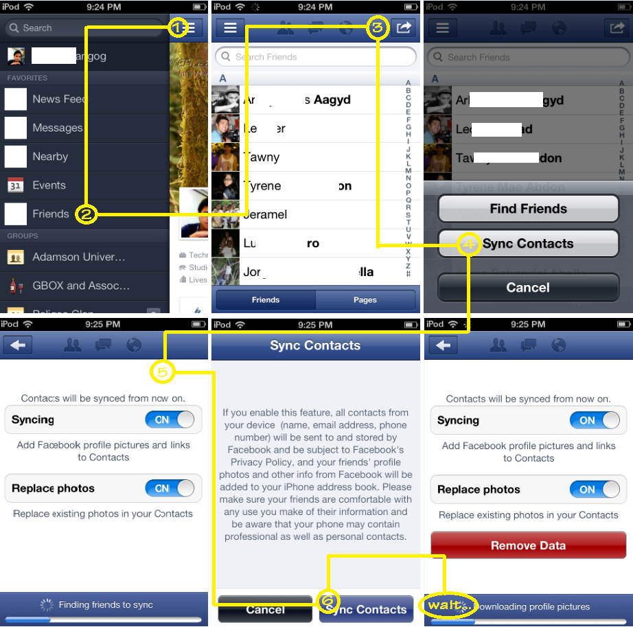 Sync Facebook Contacts with Ipod and Iphone