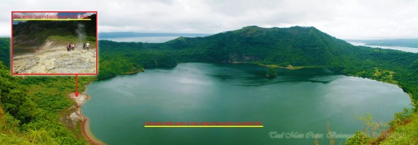 Taal Crater Trekking Trail View Comparison