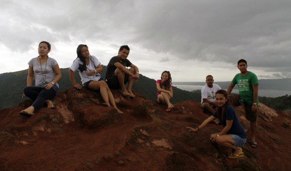 taal vocano summit pose