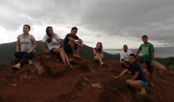taal vocano summit pose