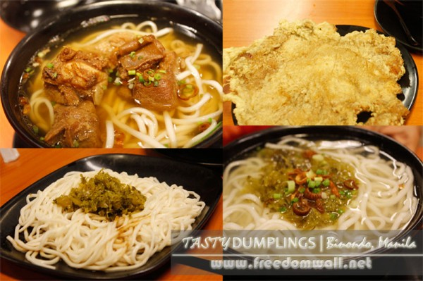 Tasty Dumplings' Spare ribs and pork chop noodles