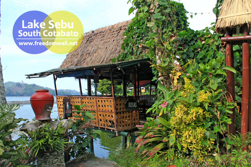 Lakeside cabana
