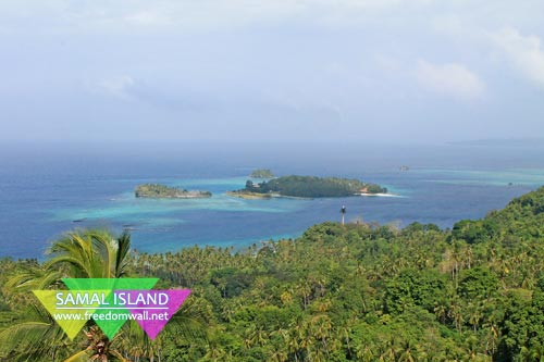 Pear Farm Beach Resort and the surrounding islets in Samal