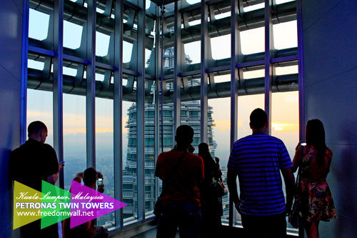 The Observation Deck at the 86/F of Petronas Twin Towers