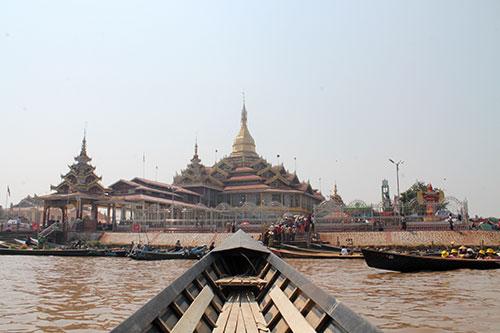 Approaching Phaung Daw Oo Pagoda