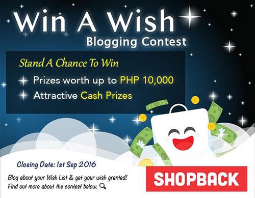 Shopback's Win a Wish Contest
