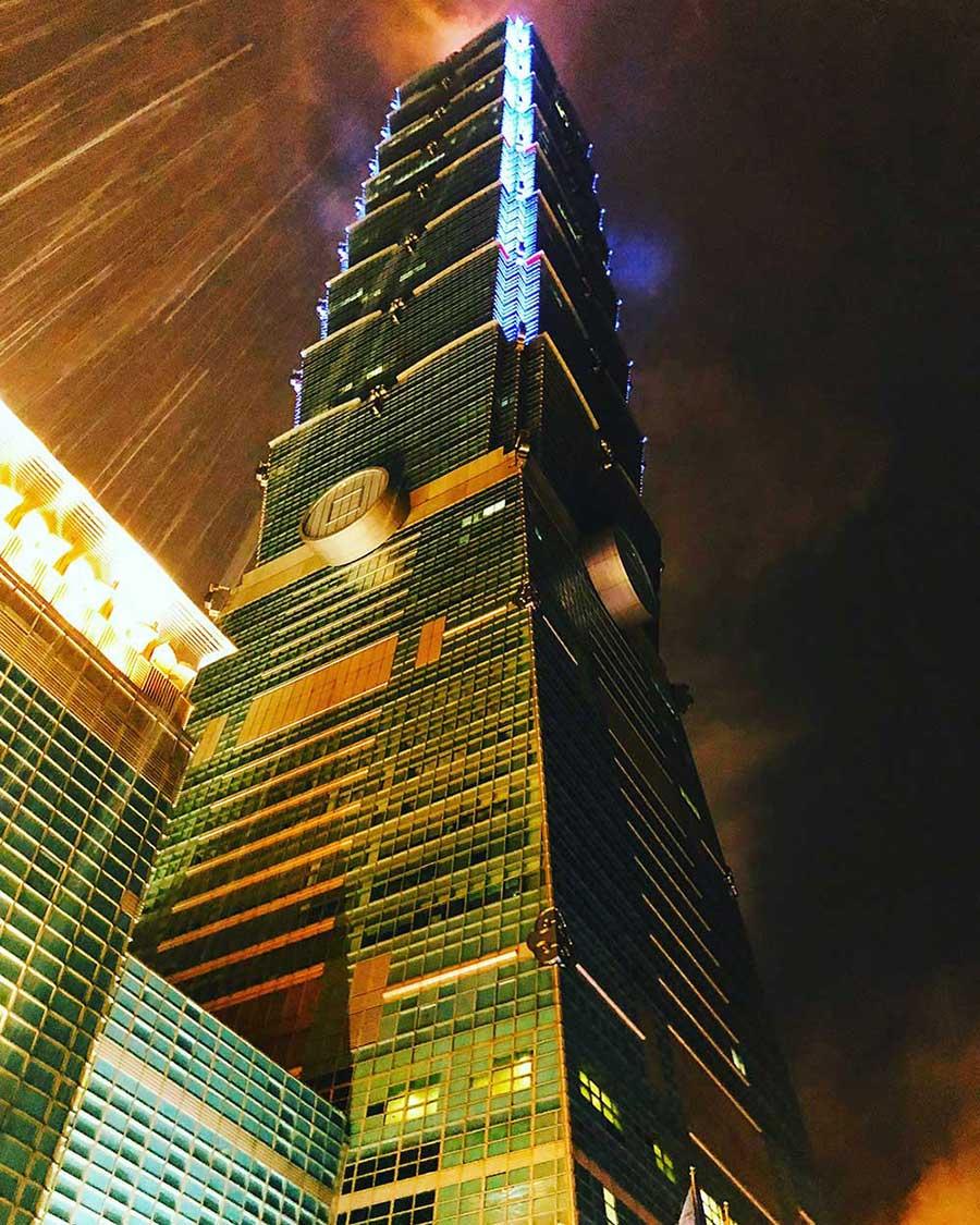 Taipei 101 from below